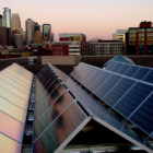 downtown Minneapolis solar panels