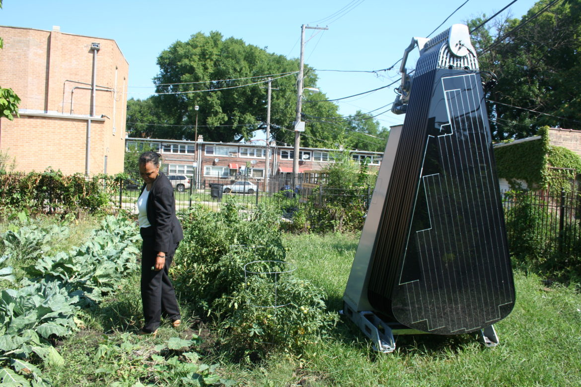 "Illinois community solar garden sprouts sun-tracking ""smartflower"