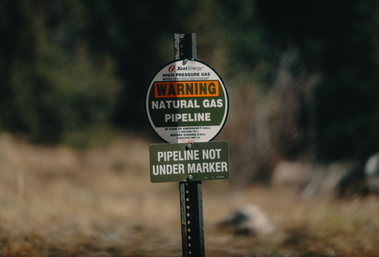 Xcel Energy natural gas pipeline marker