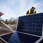 "Illinois community solar garden sprouts sun-tracking ""smartflower"