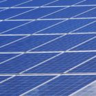 closeup of a solar panel