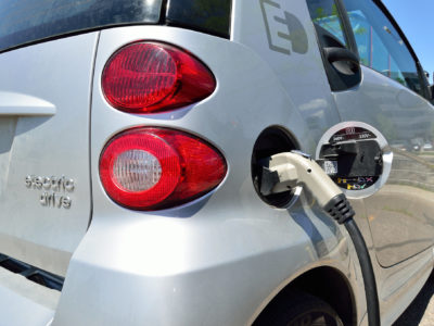 an electric vehicle charging