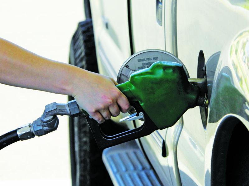 putting fuel in a car