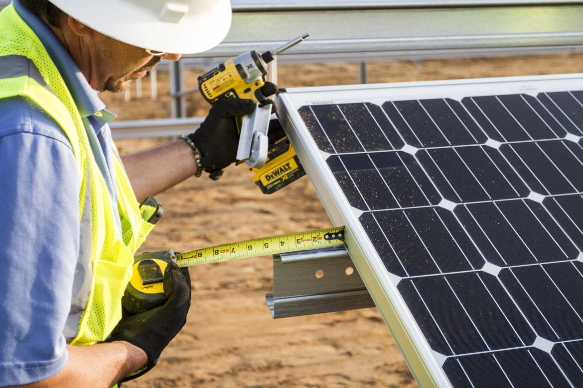 solar installation worker