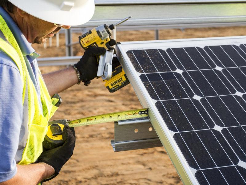 solar installation worker