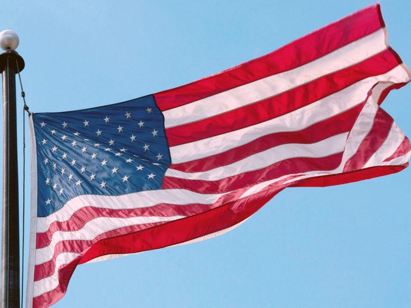 a U.S. flag