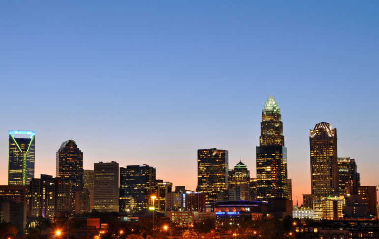 the Charlotte, North Carolina, skyline