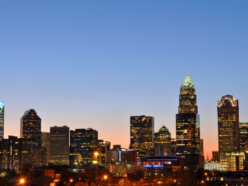 the Charlotte, North Carolina, skyline