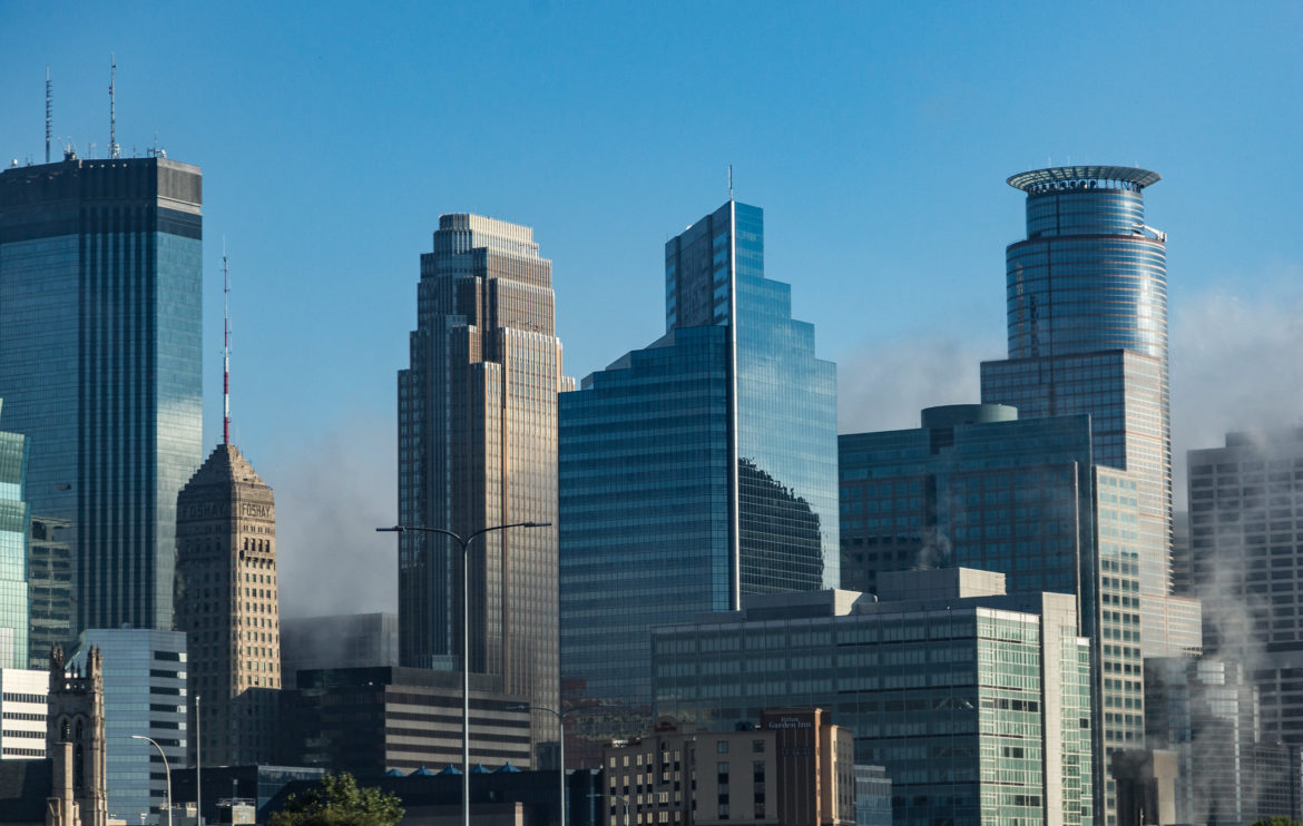 the downtown Minneapolis skyline