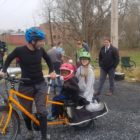 family on cargo bike