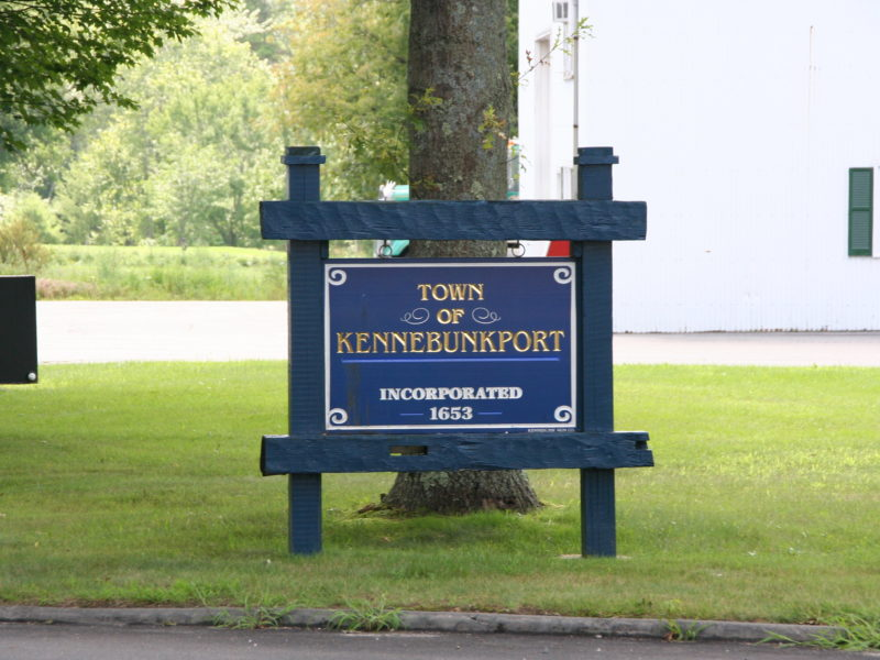 "A sign: ""Town of Kennebunkport, Incorporated 1653."""