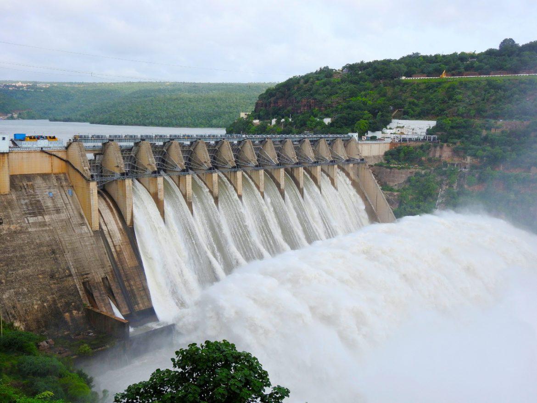 A hydropower dam.
