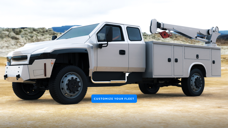 A rendering of a medium- duty truck.